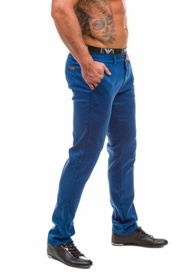 Spodnie chinosy męskie niebieskie Denley 1562