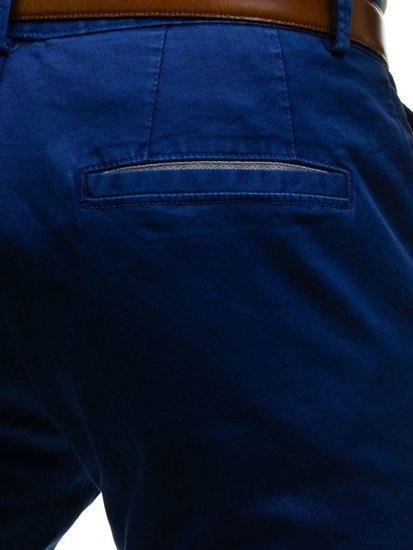 Spodnie chinosy męskie niebieskie Denley 4326