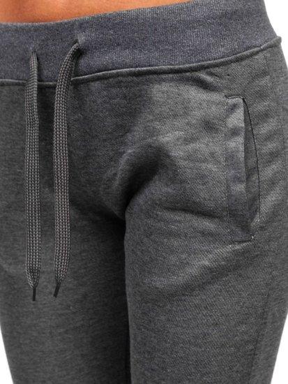Spodnie dresowe damskie grafitowe Denley WB11003