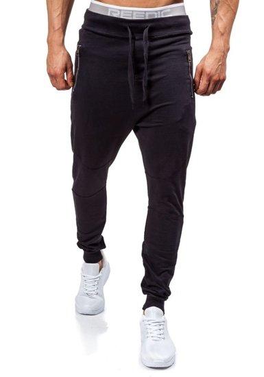 Spodnie dresowe męskie czarne Denley 1896