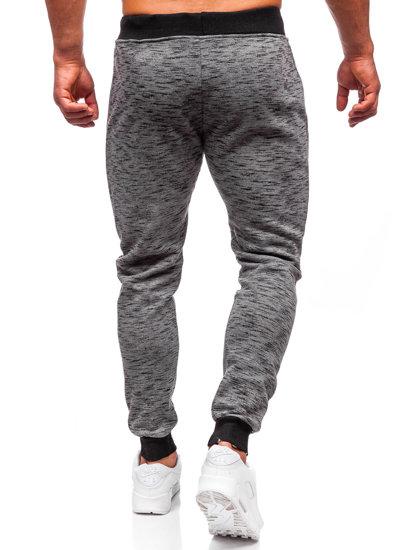 Spodnie dresowe męskie grafitowe Denley 55037