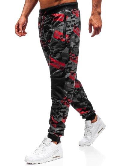 Spodnie dresowe męskie grafitowe Denley 55059