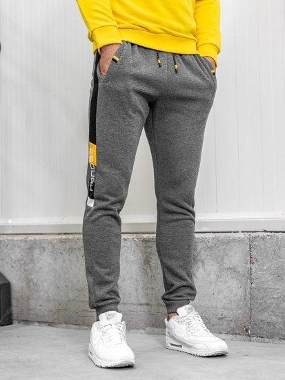 Spodnie dresowe męskie grafitowe Denley AM63