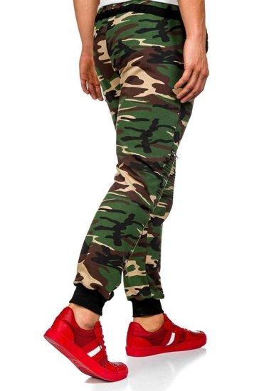 Spodnie dresowe męskie moro-khaki Denley 0724
