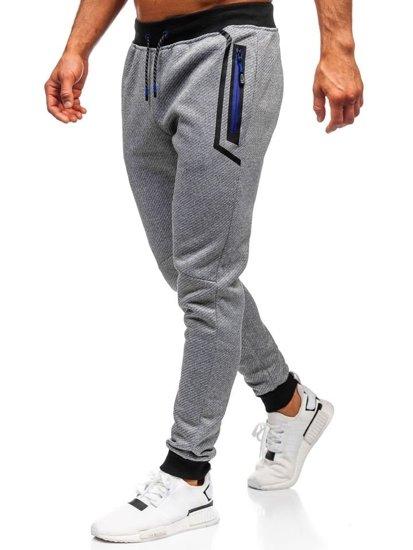 Spodnie dresowe męskie szare Denley AM71