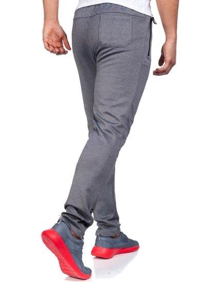 Spodnie dresowe męskie szaro-czarne Denley 3740