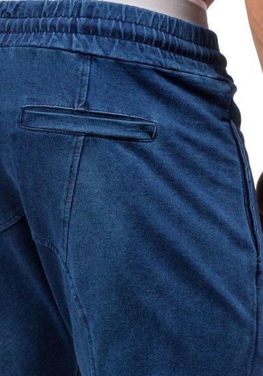 Spodnie męskie baggy granatowe Denley 2710