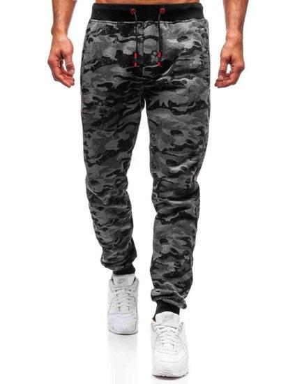 Spodnie męskie dresowe joggery grafitowe Denley KZ13