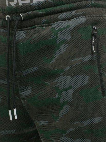 Spodnie męskie dresowe joggery moro multikolor Denley 3771D