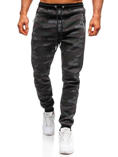 Spodnie męskie dresowe joggery moro multikolor Denley 3783D