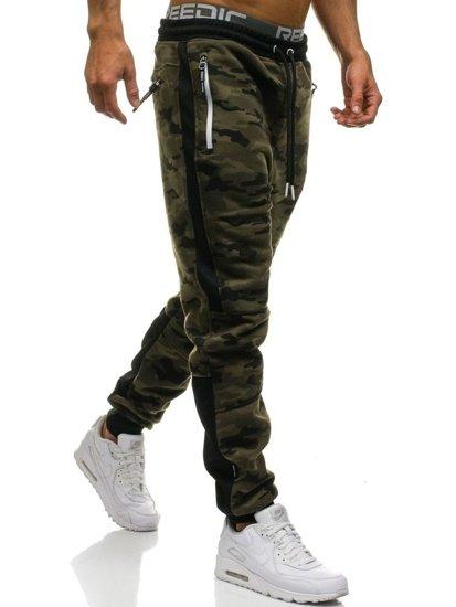Spodnie męskie dresowe joggery moro multikolor Denley 3783E