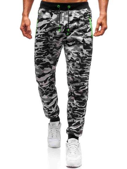 Spodnie męskie dresowe joggery szare Denley 55021