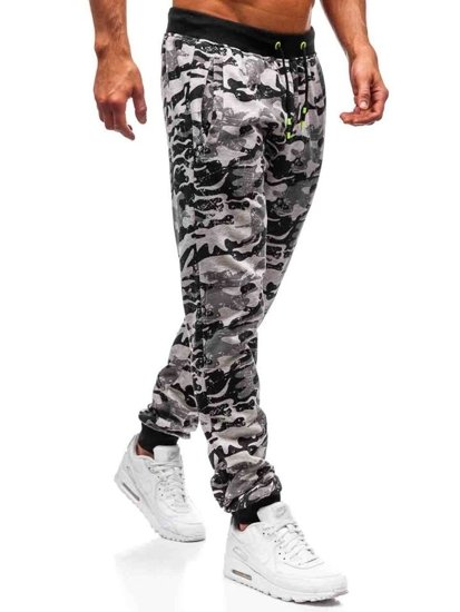 Spodnie męskie dresowe joggery szare Denley KZ13