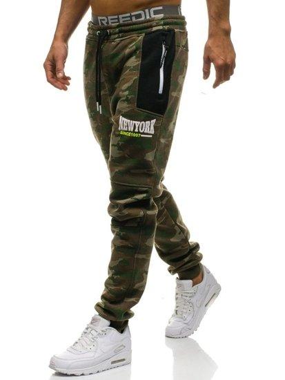 Spodnie męskie dresowe multikolor Denley 3781A