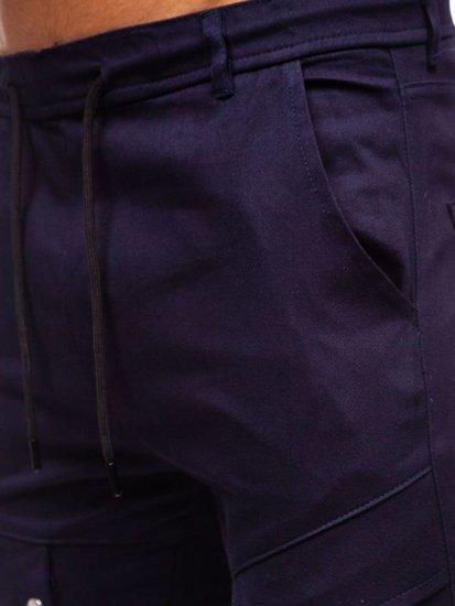 Spodnie męskie joggery bojówki granatowe Denley 1003
