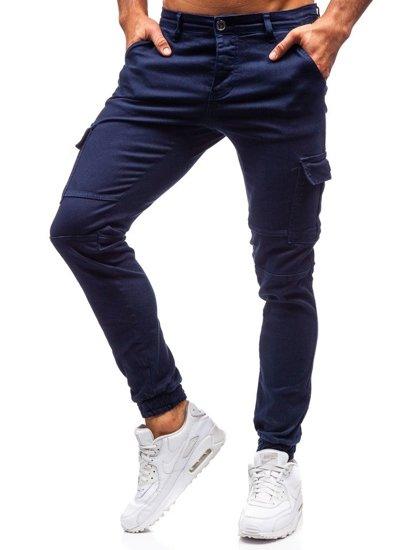 Spodnie męskie joggery granatowe Denley 2039