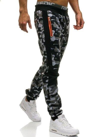 Spodnie męskie joggery szare Denley W1373