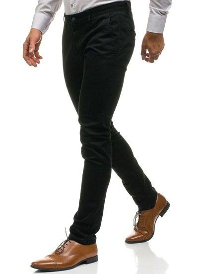 Spodnie wizytowe męskie czarne Denley HO7