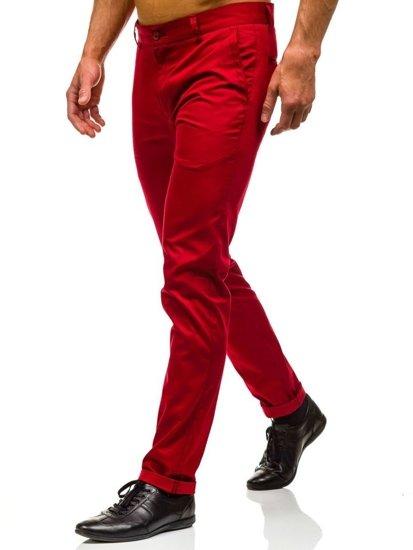 Spodnie wizytowe męskie czerwone Denley 0204