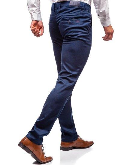 Spodnie wizytowe męskie granatowe Denley 7625