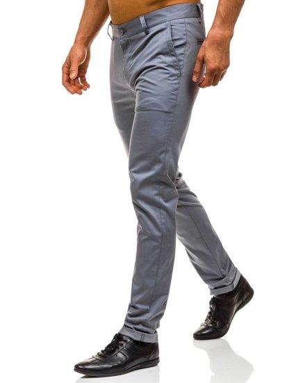 Spodnie wizytowe męskie szare Denley 0204