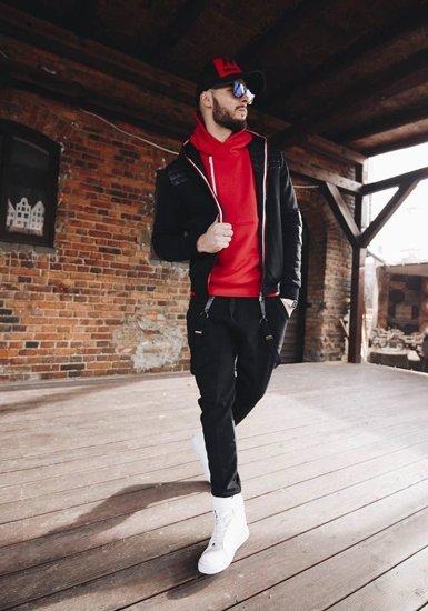 Stylizacja nr 178 - kurtka przejściowa, bluza z kapturem, spodnie baggy, buty sneakersy