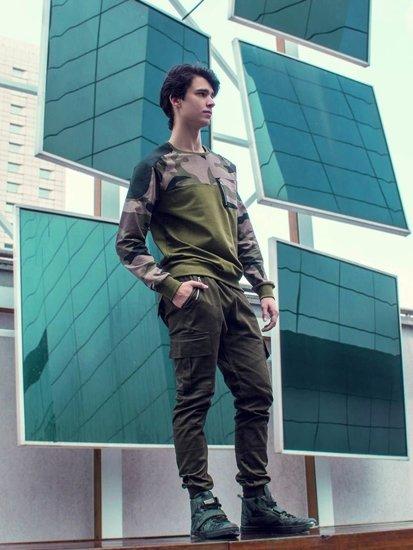 Stylizacja nr 227 - bluza bez kaptura, spodnie bojówki, buty sneakersy