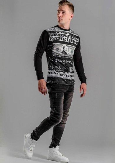 Stylizacja nr 50 - bluza z nadrukiem, spodnie jeansowe