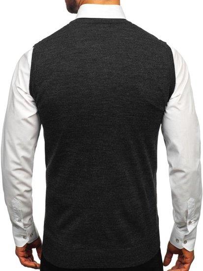 Sweter męski bez rękawów antracytowy Denley 2500