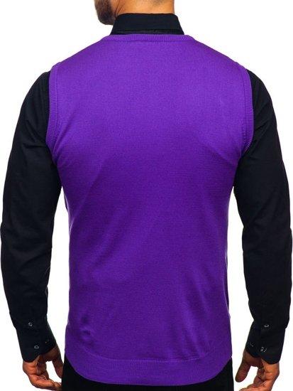 Sweter męski bez rękawów fioletowy Denley 2500