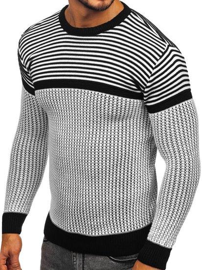 Sweter męski biały Denley 1013