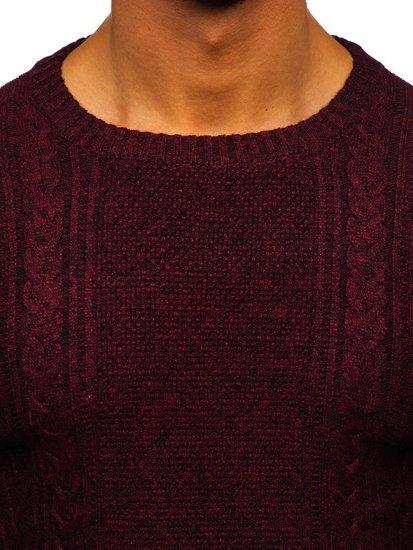 Sweter męski bordowy Denley H1937