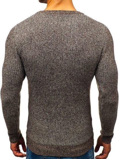 Sweter męski brązowy Denley H1818