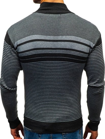 Sweter męski ciemnoszary Denley BM6131