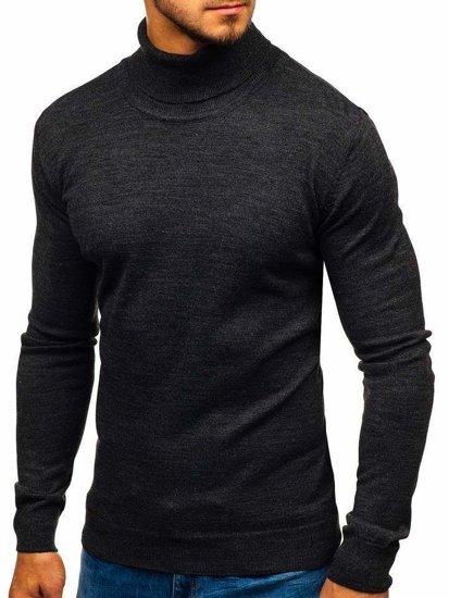 Sweter męski golf antracytowy Denley 2400