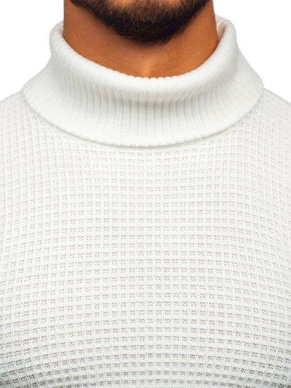 Sweter męski golf biały Denley 9999