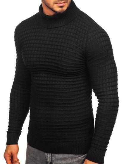 Sweter męski golf czarny Denley 4529