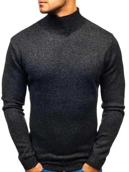 Sweter męski golf czarny Denley H1801