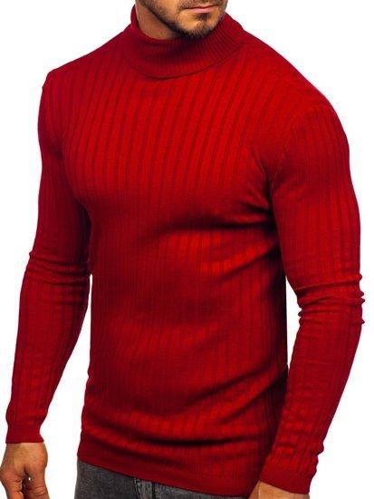 Sweter męski golf czerwony Denley 2002