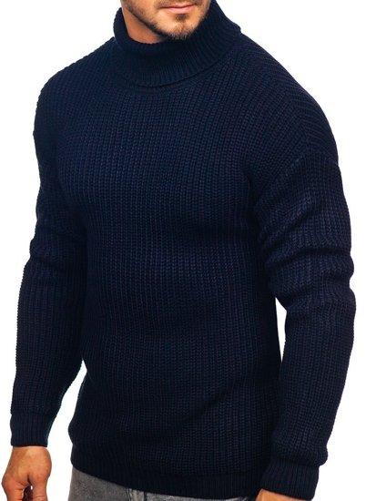 Sweter męski golf granatowy Denley 4368