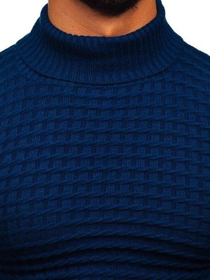 Sweter męski golf niebieski Denley 4529
