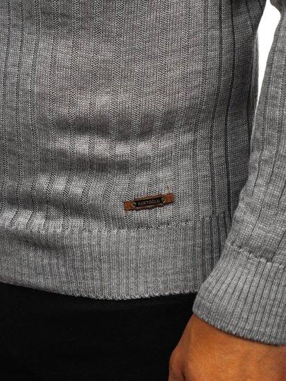 Sweter męski golf szary Denley 3070