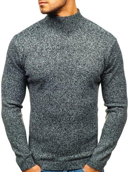 Sweter męski golf szary Denley H1801