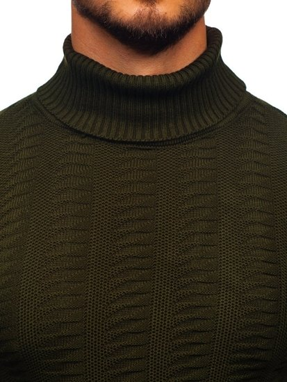 Sweter męski golf zielony Denley 314