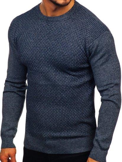 Sweter męski granatowy Denley 8512