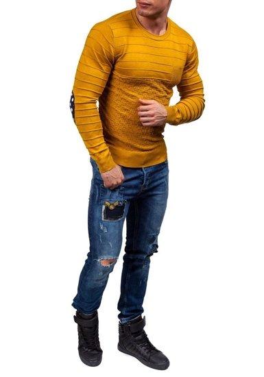 Sweter męski musztardowy Denley 2028