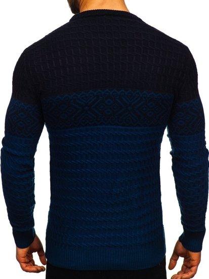 Sweter męski niebieski Denley 309