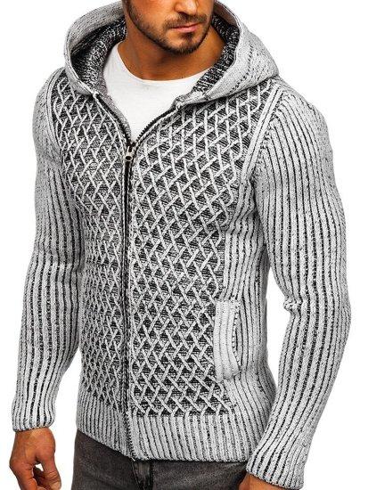 Sweter męski szaro-czarny Denley 20016
