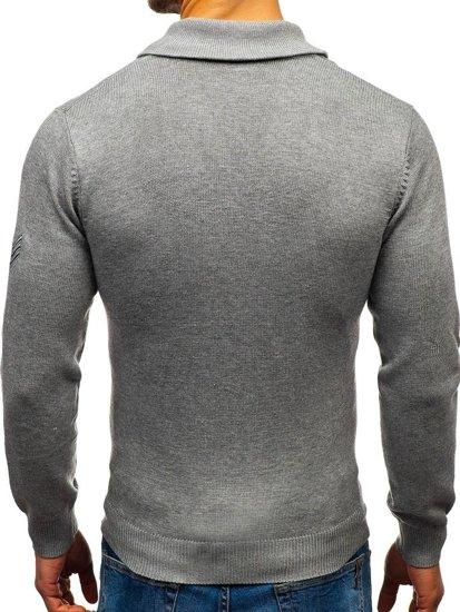 Sweter męski szary Denley 19022