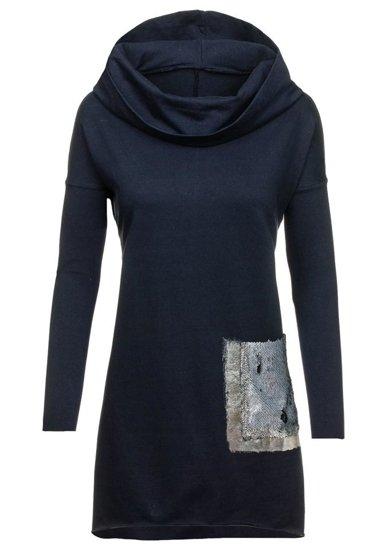 Sweter tunika damska granatowy Denley 02